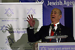 Outgoing Israeli Prime Minister, Ehud Olmert, speaks to the Jewish Agency board of trustees in Jerusalem this morning, Tuesday, February 24 2009. In his speech Olmert continued his virulent attack on Maj. Gen. (res.) Amos Gilad, who was suspended as Israel's pointman for Gaza truce talks in Egypt. Prime Minister Olmert named two senior Israeli officials to replace Amos Gilad. Photo By: Tess Scheflan / JINI