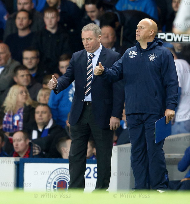 Thumbs up from Ally McCoist and Kenny McDowall as Rangers put SPL leaders Motherwell to the sword