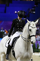 OMAHA, NEBRASKA - MAR 30: Mai Tofte Olesen rides Rustique during the FEI World Cup Dressage Final I at the CenturyLink Center on March 30, 2017 in Omaha, Nebraska. (Photo by Taylor Pence/Eclipse Sportswire/Getty Images)
