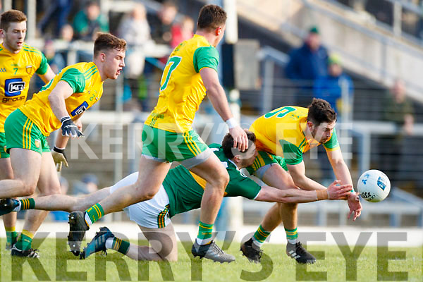 Paul Geaney Kerry in action against Ryan McHugh Donegal in the Allianz Football League Division 1 Round 1 match between Kerry and Donegal at Fitzgerald Stadium in Killarney, Co. Kerry.