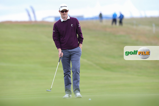 Justin Rose (ENG) during Round Three of the 2015 Aberdeen Asset Management Scottish Open, played at Gullane Golf Club, Gullane, East Lothian, Scotland. /11/07/2015/. Picture: Golffile | David Lloyd<br /> <br /> All photos usage must carry mandatory copyright credit (&copy; Golffile | David Lloyd)