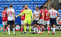 Players from both sides shake hands at the end of the match<br /> <br /> Photographer Andrew Kearns/CameraSport<br /> <br /> The EFL Sky Bet Championship - Bolton Wanderers v Bristol City - Saturday August 11th 2018 - University of Bolton Stadium - Bolton<br /> <br /> World Copyright &copy; 2018 CameraSport. All rights reserved. 43 Linden Ave. Countesthorpe. Leicester. England. LE8 5PG - Tel: +44 (0) 116 277 4147 - admin@camerasport.com - www.camerasport.com