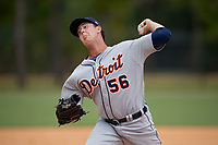 Detroit Tigers pitcher Jack O'Loughlin (56) during an Instructional League instrasquad game on September 20, 2019 at Tigertown in Lakeland, Florida.  (Mike Janes/Four Seam Images)
