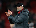 Jurgen Klopp manager of Liverpool applauds the fans  during the UEFA Champions League match at Anfield, Liverpool. Picture date: 11th March 2020. Picture credit should read: Darren Staples/Sportimage