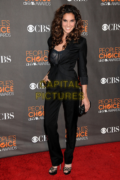 DANIELA RUAH.36th Annual People's Choice Awards - Arrivals held at the Nokia Theatre LA Live, Los Angeles, California, USA..January 6th, 2009.full length black jacket blazer trousers suit clutch bag .CAP/ADM/BP.©Byron Purvis/AdMedia/Capital Pictures.