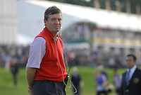 September 24th, 2006. European  Ryder Cup team vice-captain Des Smyth on the edge of the 17th green during the singles final session of the last day of the 2006 Ryder Cup at the K Club in Straffan,. County Kildare in the Republic of Ireland...Photo: Eoin Clarke/ Newsfile..