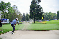 J.B. Holmes (USA) hits from the trap on 7 during round 3 of the World Golf Championships, Mexico, Club De Golf Chapultepec, Mexico City, Mexico. 3/4/2017.<br /> Picture: Golffile | Ken Murray<br /> <br /> <br /> All photo usage must carry mandatory copyright credit (&copy; Golffile | Ken Murray)