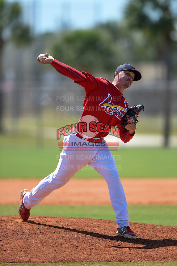 St. Louis Cardinals pitcher Zach Loraine (43) during a minor league spring training game against the New York Mets on April 1, 2015 at the Roger Dean Complex in Jupiter, Florida.  (Mike Janes/Four Seam Images)