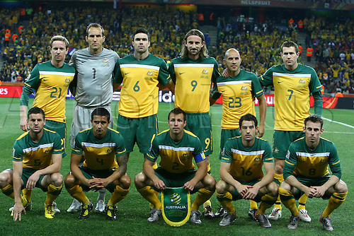 Australia team group line-up (AUS), JUNE 23, 2010 - Football : 2010 FIFA World Cup South Africa Group D match between Australia 2-1 Serbia at Mbombela Stadium in Nelspruit, South Africa.