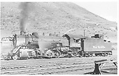 D&amp;RGW #1229 with fireman in cab in Minturn.<br /> D&amp;RGW  Minturn, CO  Taken by Payne, Andy M. - 8/23/1954