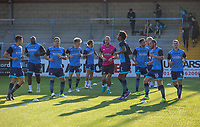 Wycombe players warm up ahead of the pre season friendly 'Cherry Red Records Cup' match between Wycombe Wanderers and AFC Wimbledon at Adams Park, High Wycombe, England on 25 July 2017. Photo by Kevin Prescod.