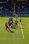 Chesterfield 1 Accrington Stanley 2, 16/09/2017. Proact Stadium, League Two. Chesterfield defend a free kick.  Photo by Paul Thompson.