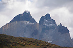 Rugged Los Cuernos Horns in Torres del Paine National Park in Patagonia Chile