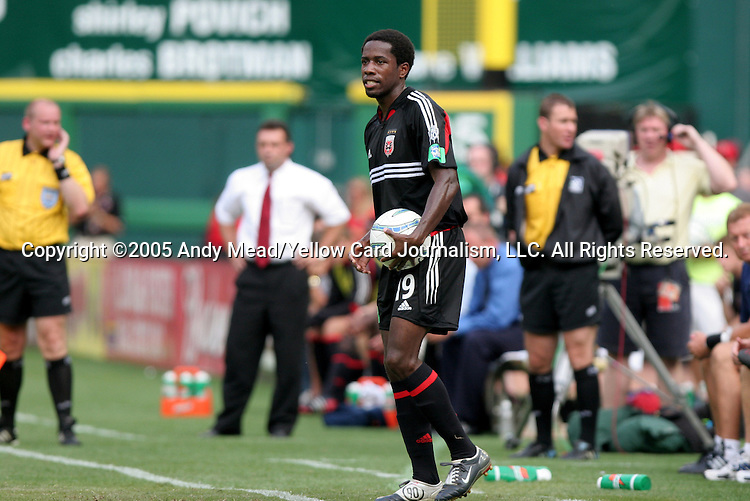 9 July 2005: Clyde Simms. The Kansas City Wizards defeated DC United 1-0 at RFK Stadium in Washington, DC in a regular season Major League Soccer game. .