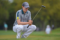 Matt Fitzpatrick (ENG) lines up his putt on 1 during day 3 of the WGC Dell Match Play, at the Austin Country Club, Austin, Texas, USA. 3/29/2019.<br /> Picture: Golffile | Ken Murray<br /> <br /> <br /> All photo usage must carry mandatory copyright credit (© Golffile | Ken Murray)