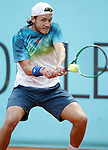 Lucas Pouille, France, during Madrid Open Tennis 2016 match.May, 2, 2016.(ALTERPHOTOS/Acero)