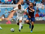 Real Madrid CF's Eden Hazard and Levante UD's Carlos Clerc during La Liga match. Aug 24, 2019. (ALTERPHOTOS/Manu R.B.)