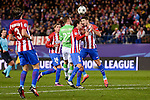 Atletico de Madrid's player Filipe Luis, José María Giménez, Tiago Cardoso and PSV Eindhoven's players Bart Ramselaar  during a match of La Liga at Vicente Calderon Stadium in Madrid. November 22, Spain. 2016. (ALTERPHOTOS/BorjaB.Hojas)