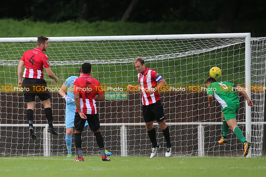 Soham attack the Hornchurch goal  during AFC Hornchurch vs Soham Town Rangers, Bostik League Division 1 North Football at Hornchurch Stadium on 12th August 2017