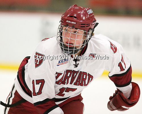 Kaitlin Spurling (Harvard - 17) - The visiting Dartmouth College Big Green defeated the Harvard University Crimson 3-2 on Wednesday, November 23, 2011, at Bright Hockey Center in Cambridge, Massachusetts.