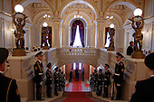 Kiev, Ukraine.August 24, 2005 ..Inside the Mariinkiy Palace on Independence Day in Kiev ... awaiting the arrival of Ukraine President Victor Yushchinko, Prime Minister Yulia Tymoshenko and  Volodymyr Lytvyn, speaker of the Ukrainian Parliament.