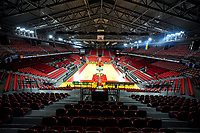 20191114 - CHARLEROI , BELGIUM : Dome Charleroi is ready for the female basketball match between the Belgian national team Belgian Cats and Ukraine , a first qualification game for the Belgian Cats in Group G towards the Women's European Eurobasket Basketball Championships 2021 in Lyon, Paris and Valencia, on Thursday 14 th November in the Dome in Charleroi , Belgium . PHOTO SPORTPIX | STIJN AUDOOREN