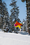 California: Snowboarding at Northstar at Lake Tahoe.    Photo copyright Lee Foster.  Photo # cataho100516