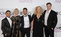 www.acepixs.com<br /> <br /> January 18 2017, LA<br /> <br />  Melissa Peterman, Derek Theler, Chelsea Kane, Jean-Luc Bilodeau, Tahj Mowry arriving at the People's Choice Awards 2017 at the Microsoft Theater on January 18, 2017 in Los Angeles, California.<br /> <br /> By Line: Peter West/ACE Pictures<br /> <br /> <br /> ACE Pictures Inc<br /> Tel: 6467670430<br /> Email: info@acepixs.com<br /> www.acepixs.com