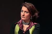 Carla Ruocco candidata Movimento 5 stelle.Roma 11/02/2013 Piccolo Eliseo. Le donne incontrano la politica, organizzato dal movimento 'Se non ora quando'..Photo Samantha Zucchi Insidefoto