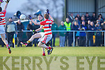 Jonathan Lyne  Kerry in action against Peter Daly Cork IT in the semi final of the McGrath Cup at John Mitchells Grounds on Sunday.