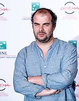 "Il regista francese Cedric Anger posa durante un photocall per la presentazione del suo film ""La prochaine fois je viserai le coeur"" al Festival Internazionale del Film di Roma, 20 ottobre 2014.<br /> French director Cedric Anger poses for a photocall to present his movie ""La prochaine fois je viserai le coeur"" (""Next time I'll aim for the heart"") during the international Rome Film Festival at Rome's Auditorium, 20 October 2014.<br /> UPDATE IMAGES PRESS/Isabella Bonotto"