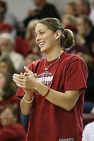 5 February 2008: Stanford Cardinal Michelle Harrison during Stanford's 96-74 win against the Santa Clara Broncos at the Leavey Center in Santa Clara, CA.