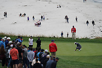 Tiger Woods (USA) on the 9th green during the 3rd round of the US Open Championship, Pebel Beach Golf Links, Monterrey, Calafornia, USA. 15/06/2019.<br /> Picture Fran Caffrey / Golffile.ie<br /> <br /> All photo usage must carry mandatory copyright credit (© Golffile | Fran Caffrey)