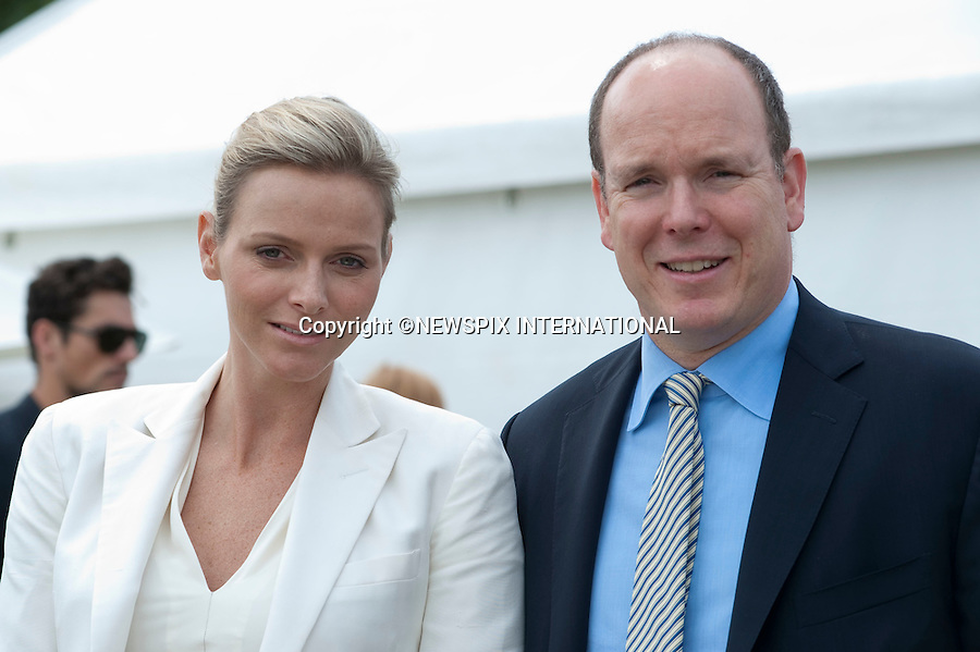"""Prince Albert and Fiancée Charlene Wittstock.attend 2010 Asprey World Class Cup Polo, played at Kenny Jones'Hurtwood Park, Surrey_England_17/07/2010..Mandatory Photo Credit: ©Dias/Newspix International..**ALL FEES PAYABLE TO: """"NEWSPIX INTERNATIONAL""""**..PHOTO CREDIT MANDATORY!!: NEWSPIX INTERNATIONAL(Failure to credit will incur a surcharge of 100% of reproduction fees)..IMMEDIATE CONFIRMATION OF USAGE REQUIRED:.Newspix International, 31 Chinnery Hill, Bishop's Stortford, ENGLAND CM23 3PS.Tel:+441279 324672  ; Fax: +441279656877.Mobile:  0777568 1153.e-mail: info@newspixinternational.co.uk"""