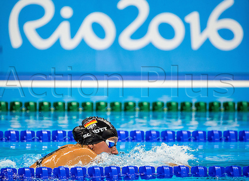 11.09.2016. Rio de Janeiro, Brazil.  Verena Schott of Germany competes in swimming Women's 100m Breaststroke - SB5 Final - during the Rio 2016 Paralympic Games, Rio de Janeiro, Brazil, 11 September 2016. Schott wins silver medal.