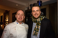 Melbourne, June 26, 2018 - Michael Cole and Mark Calabro from Ordermate at a celebration event for Bocuse d'Or Australia team and their sponsors and supporters at Philippe Restaurant in Melbourne, Australia. Photo Sydney Low.