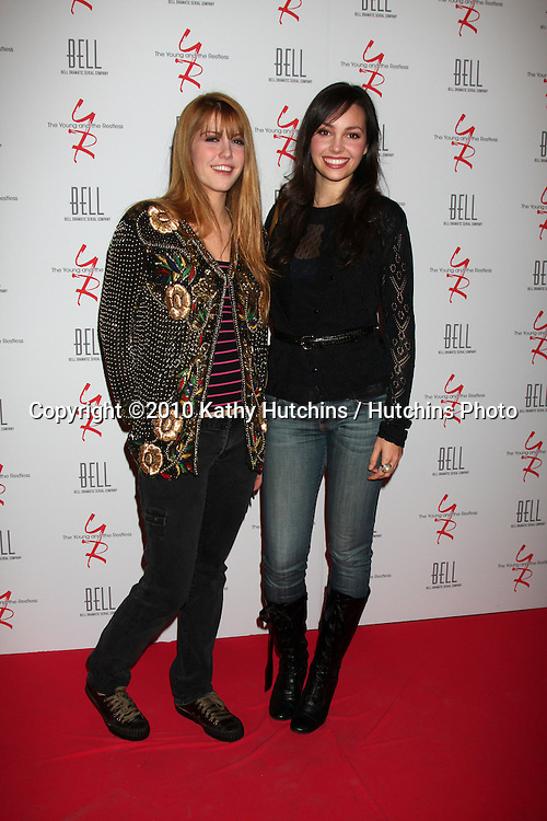 Yvonne Zima & Emily O'Brien.arrivng at The Young & The Restless 37th Anniversary Dinner.Via Allorro.Beverly Hills, CA.March 9, 2010.©2010 Kathy Hutchins / Hutchins Photo....