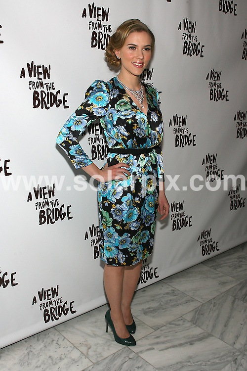 """**ALL ROUND PICTURES FROM SOLARPIX.COM**.**SYNDICATION RIGHTS FOR UK, AUSTRALIA, DENMARK, PORTUGAL, S. AFRICA, SPAIN & DUBAI (U.A.E) ONLY**.Scarlett Johansson at the A View From the Bridge"""" Broadway Show Opening Night After Party held at  Espace, New York City, NY, USA. 24 January 2010..This pic: Scarlett Johansson..JOB REF: 10546 PHZ Gaboury   DATE: 24_01_2010.**MUST CREDIT SOLARPIX.COM OR DOUBLE FEE WILL BE CHARGED**.**MUST NOTIFY SOLARPIX OF ONLINE USAGE**.**CALL US ON: +34 952 811 768 or LOW RATE FROM UK 0844 617 7637**"""