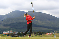 Yvie Chaucheprat (FRA) on the 2nd tee during Round 1 of the Women's Amateur Championship at Royal County Down Golf Club in Newcastle Co. Down on Tuesday 11th June 2019.<br /> Picture:  Thos Caffrey / www.golffile.ie<br /> <br /> All photos usage must carry mandatory copyright credit (© Golffile | Thos Caffrey)