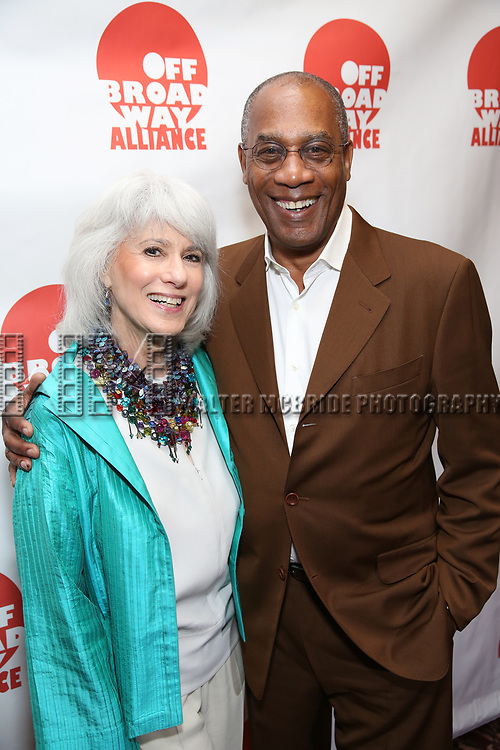 Jamie deRoy and Joe Morton attends the 7th Annual Off Broadway Alliance Awards at Sardi's on June 20, 2017 in New York City.