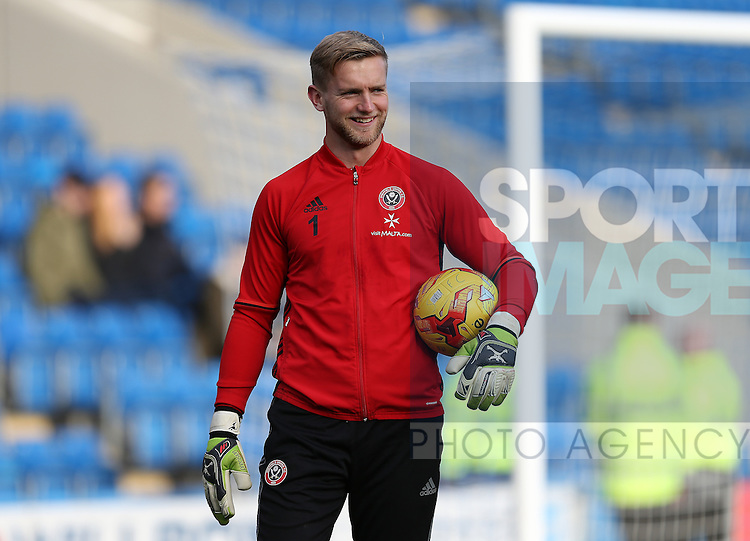 George Long of Sheffield Utd during the English League One match at the Proact Stadium, Chesterfield. Picture date: November 13th, 2016. Pic Simon Bellis/Sportimage