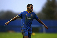 Giovanni Palmer of Romford scores the third goal for his team and celebrates during Romford vs Soham Town Rangers, BetVictor League North Division Football at the Brentwood Centre on 2nd November 2019