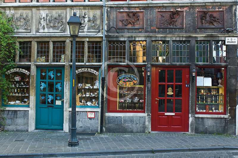 Belgium, Ghent, Old shops, Patershol