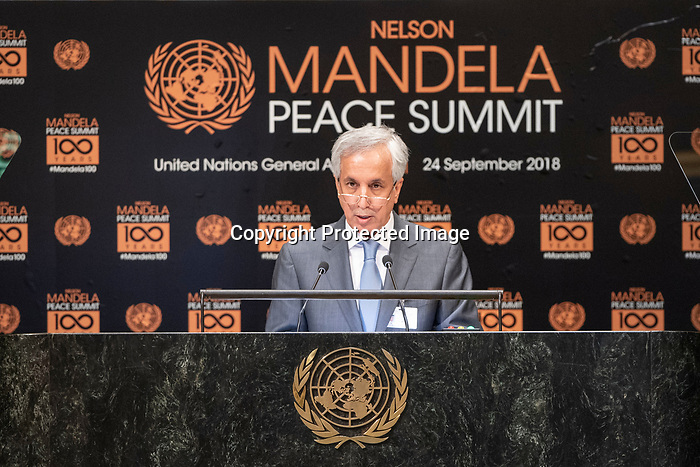 Opening Plenary Meeting of the Nelson Mandela Peace Summit<br /> <br /> His Excellency Sheikh Mohammed bin Abdulrahman bin Jassim AL-THANIDeputy Prime Minister and Minister for Foreign Affairs of Qatar