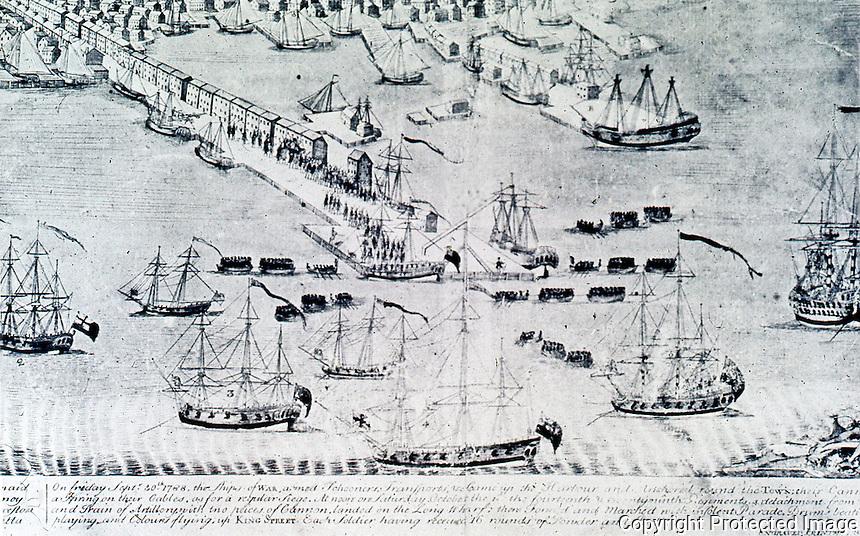 Utopia:  Boston --View of the Harbor, 1768.  REPS: MAKING OF URBAN AMERICA, fig. 86.