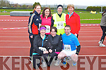 JACKIE'S ARMY: Competing in the An Riocht Lee Strand Kingdom 10km & 5Km run/walk in Castleisland on Sunday front l-r:Mary Joy, Fiona McGillcuddy and James O'Connor. Back l-r:Maura Brosnan, Cathy O'Sullivan, Frances Browne and Jackie Nagle, Killorglin, Castlemaine and Beaufort.