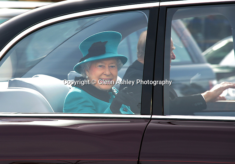 The Queen heads off to the Cathedral in Sheffield, United Kingdom on 2 April 2015. Photo by Glenn Ashley
