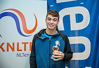 Hilversum, Netherlands, December 3, 2017, Winter Youth Circuit Masters, 12,14,and 16, years, prizegiving 16 years<br /> , 8 th place boys : Jesse den Hartog <br /> Photo: Tennisimages/Henk Koster