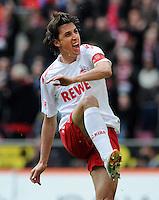 FUSSBALL   1. BUNDESLIGA   SAISON 2011/2012   29. SPIELTAG 1. FC Koeln - SV Werder Bremen                           07.04.2012 Pedro Geromel (1. FC Koeln) jubelt nach dem Tor zum 1:1