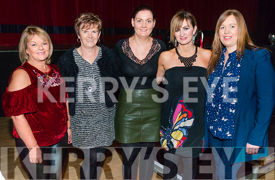 l-r Eileen Kiely Mary Frances O'Mahony, Aileen Moriarty, Jodie O'Sullivan and Karen O'Mahony all from Rathmore pictured at Rathmore Strictly Come Dance in the INEC, Killarney last Thursday night.